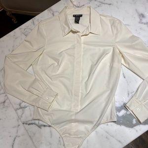 Bebe White sexy slim body suit